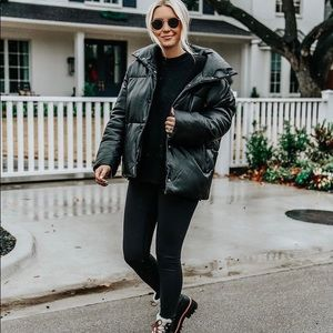 Urban Outfitters Black Puffer Coat